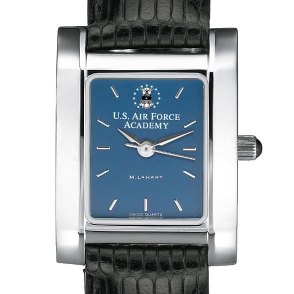 Air Force Academy Women's Steel Quad Blue Dial with Leather