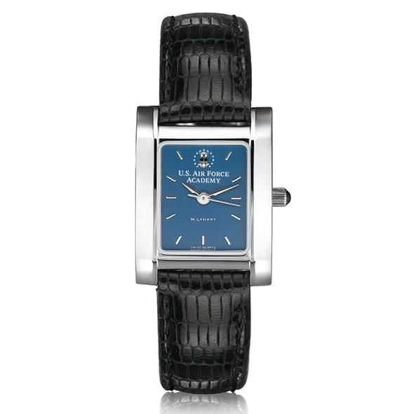 Air Force Academy Women's Steel Quad Blue Dial with Leather - Image 2