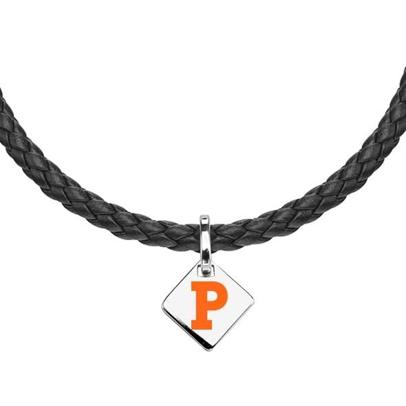 Princeton Leather Necklace with Sterling Silver Tag