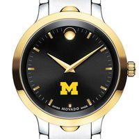 Michigan Men's Movado Luno Sport Two-Tone