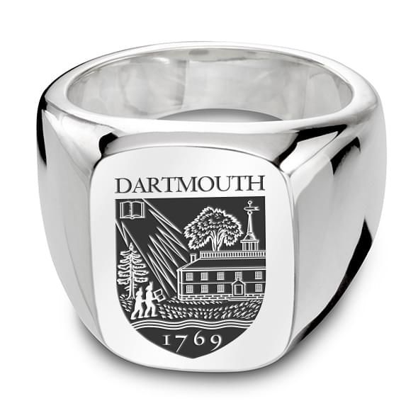 Dartmouth Sterling Silver Rectangular Cushion Ring