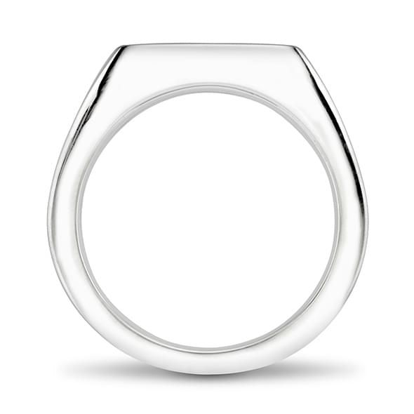 Dartmouth Sterling Silver Rectangular Cushion Ring - Image 4