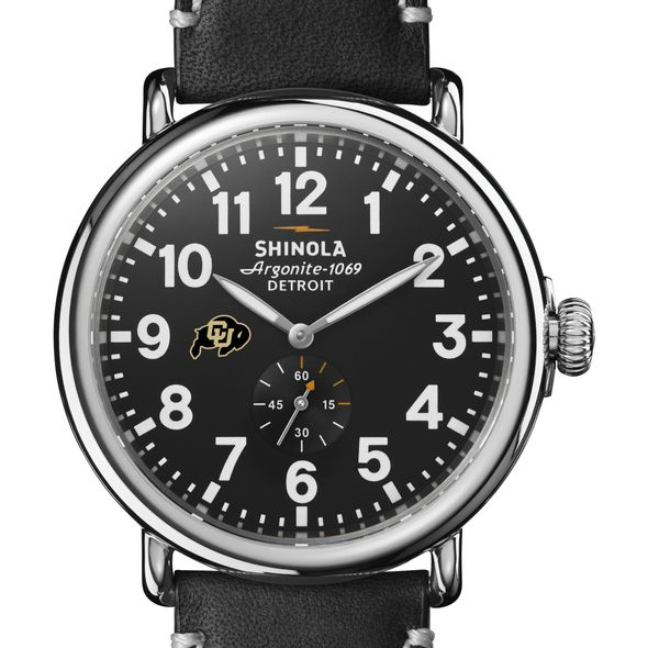 Colorado Shinola Watch, The Runwell 47mm Black Dial - Image 1
