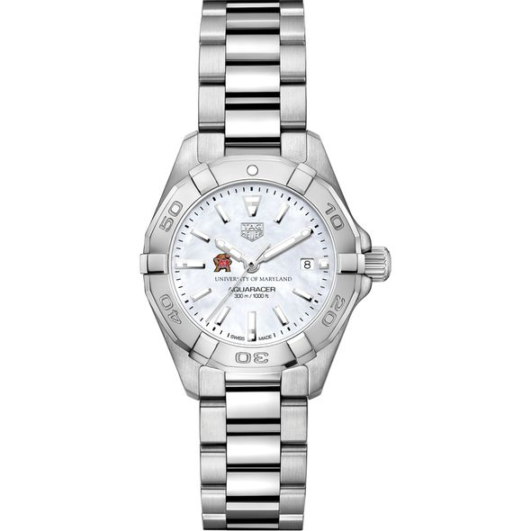 University of Maryland Women's TAG Heuer Steel Aquaracer w MOP Dial - Image 2