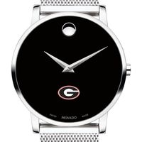 University of Georgia Men's Movado Museum with Mesh Bracelet