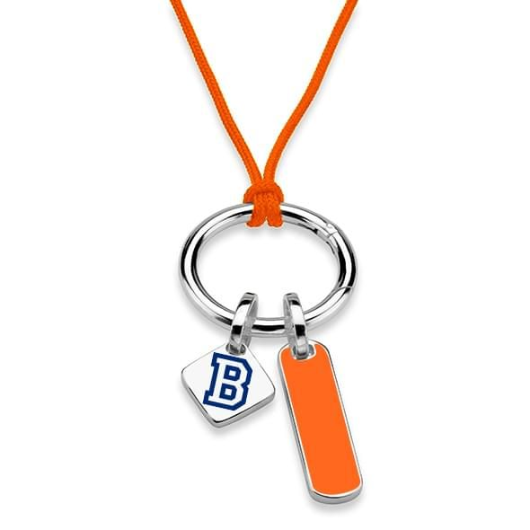 Bucknell University Silk Necklace with Enamel Charm & Sterling Silver Tag - Image 2