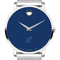 US Naval Academy Men's Movado Museum with Blue Dial & Mesh Bracelet