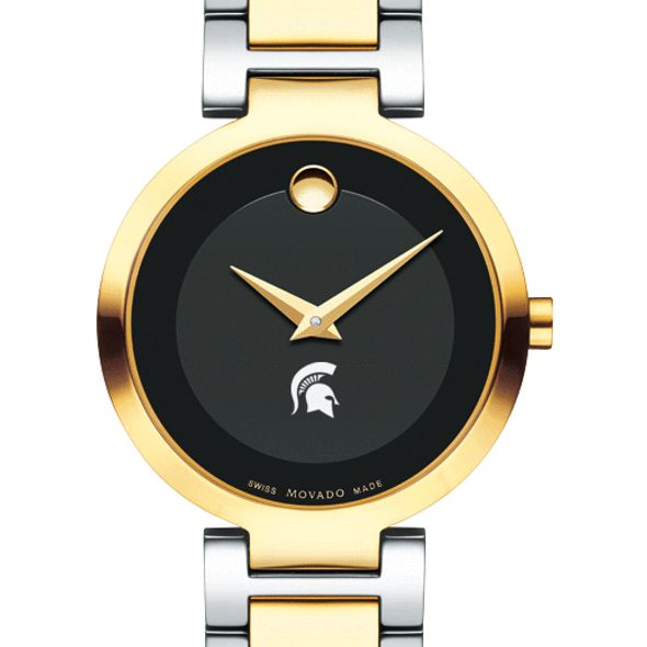 Michigan State University Women's Movado Two-Tone Modern Classic Museum with Bracelet