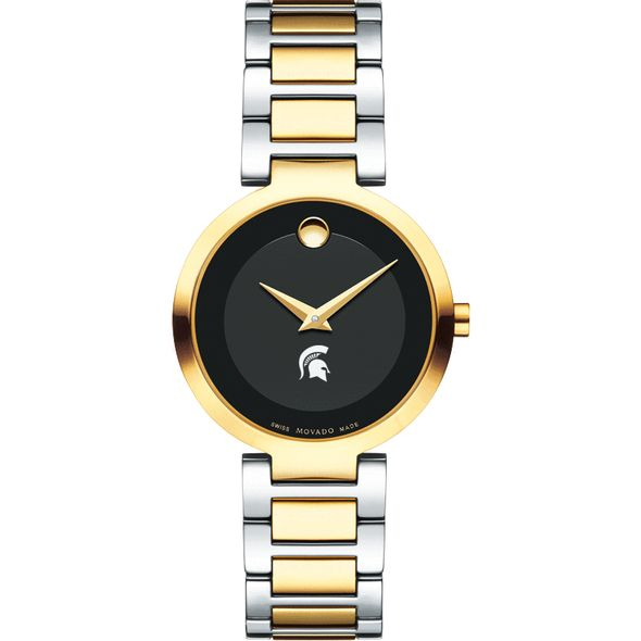 Michigan State University Women's Movado Two-Tone Modern Classic Museum with Bracelet - Image 2
