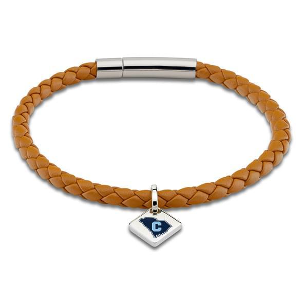 Citadel Leather Bracelet with Sterling Silver Tag - Saddle