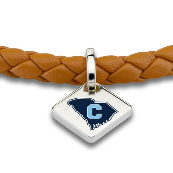 Citadel Leather Bracelet with Sterling Silver Tag - Saddle - Image 2