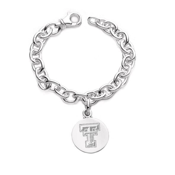 Texas Tech Sterling Silver Charm Bracelet