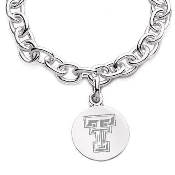 Texas Tech Sterling Silver Charm Bracelet - Image 2