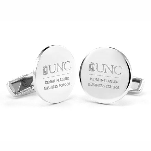 UNC Kenan-Flagler Cufflinks in Sterling Silver
