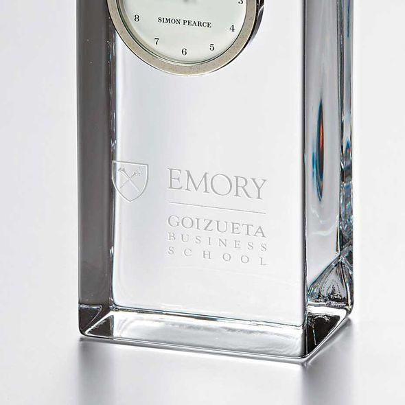 Emory Goizueta Tall Glass Desk Clock by Simon Pearce - Image 2