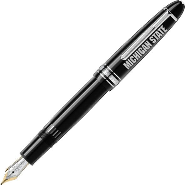 Michigan State University Montblanc Meisterstück LeGrand Fountain Pen in Platinum