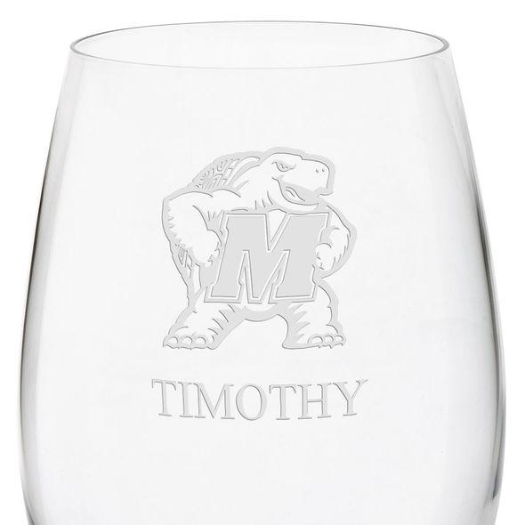 University of Maryland Red Wine Glasses - Set of 4 - Image 3