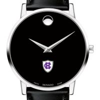 Holy Cross Men's Movado Museum with Leather Strap