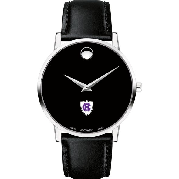 Holy Cross Men's Movado Museum with Leather Strap - Image 2