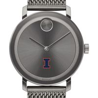 University of Illinois Men's Movado BOLD Gunmetal Grey with Mesh Bracelet