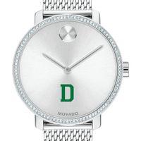 Dartmouth Women's Movado Bold with Crystal Bezel & Mesh Bracelet