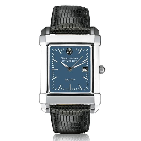 Georgetown Men's Blue Quad Watch with Leather Strap - Image 2
