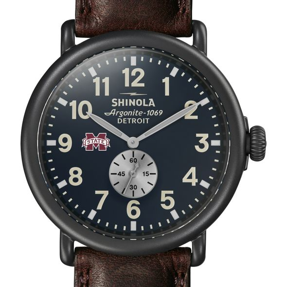 MS State Shinola Watch, The Runwell 47mm Midnight Blue Dial