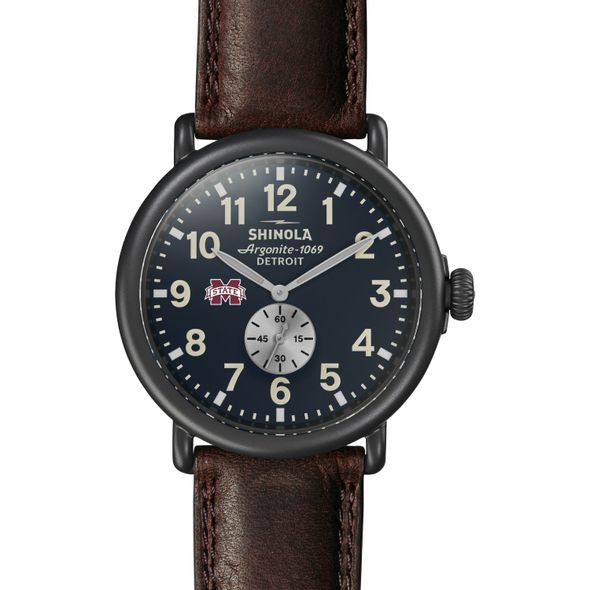 MS State Shinola Watch, The Runwell 47mm Midnight Blue Dial - Image 2