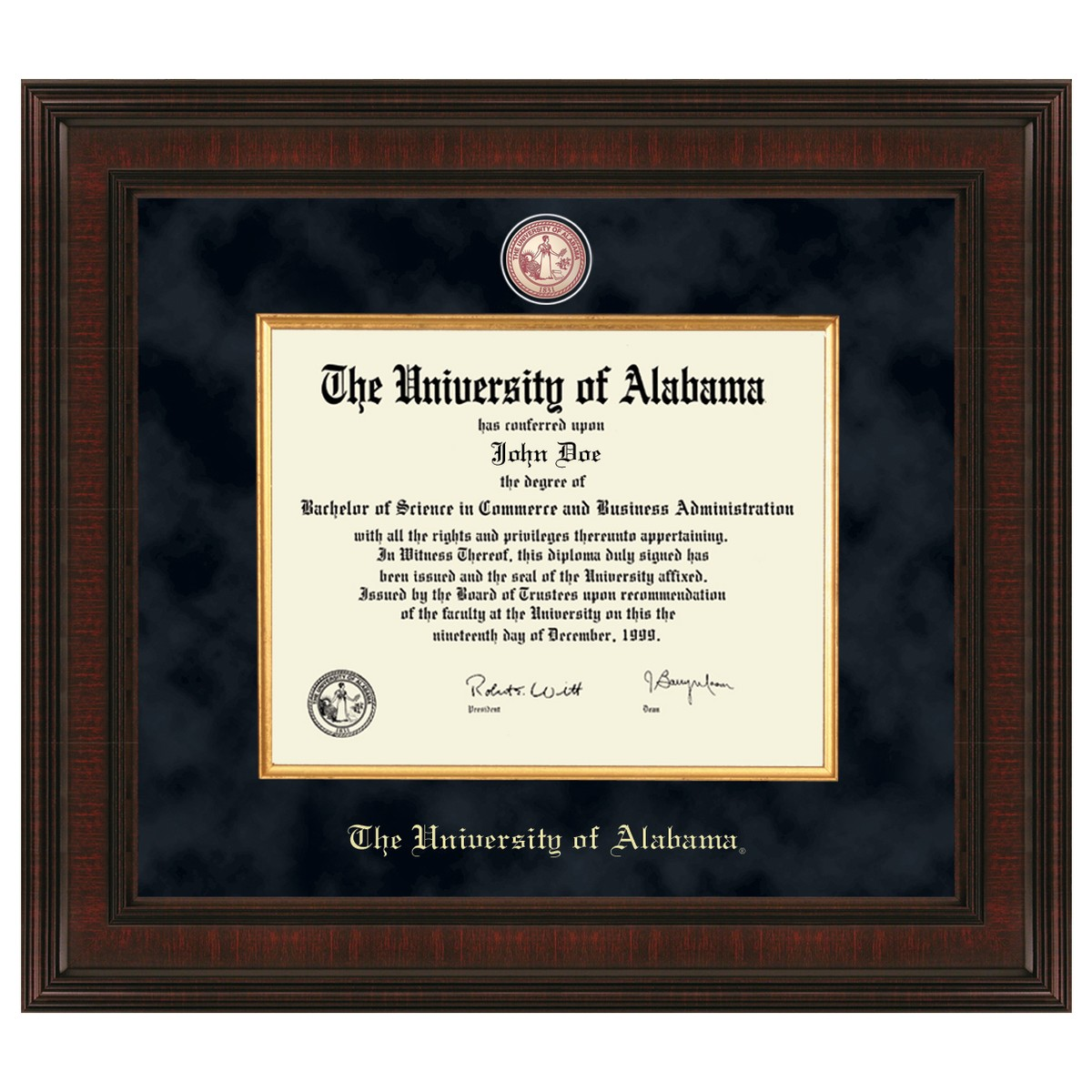 University Of Alabama Diploma Frame Excelsior