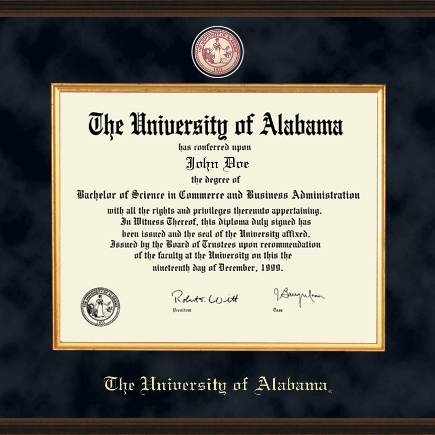 University of Alabama Diploma Frame - Excelsior | Graduation Gift