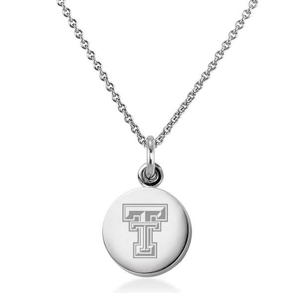 Texas Tech Necklace with Charm in Sterling Silver