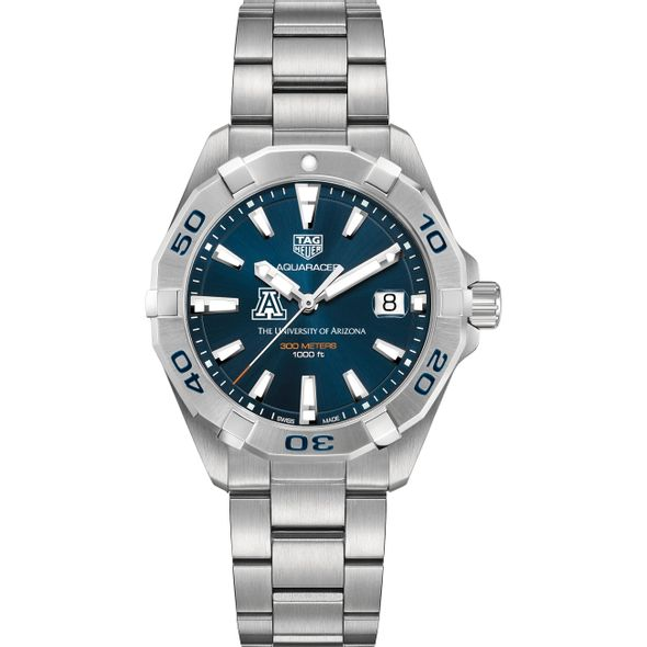 University of Arizona Men's TAG Heuer Steel Aquaracer with Blue Dial - Image 2