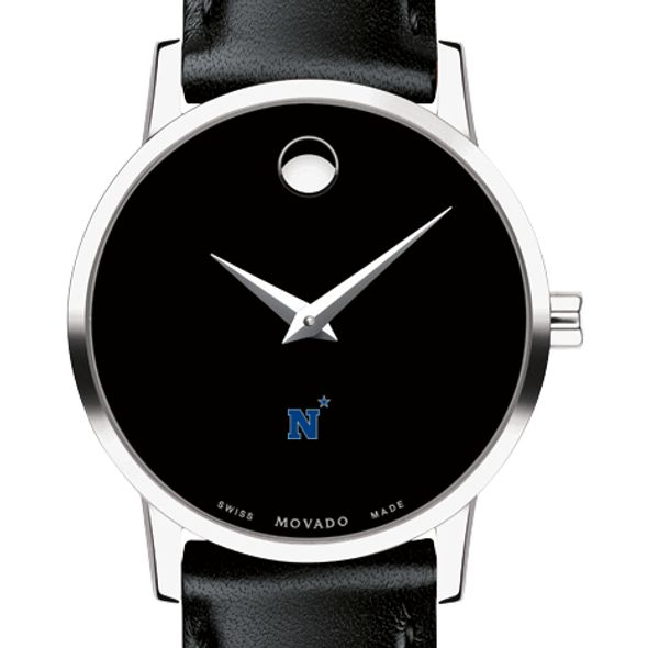 US Naval Academy Women's Movado Museum with Leather Strap - Image 1