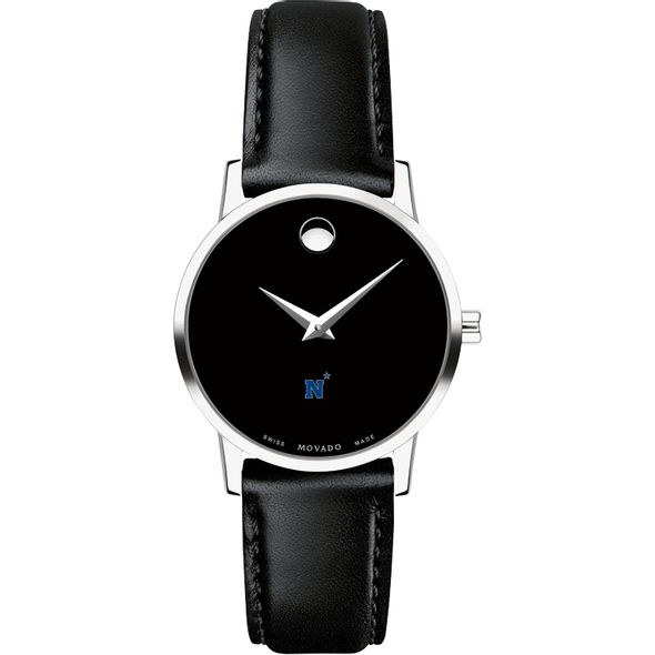 US Naval Academy Women's Movado Museum with Leather Strap - Image 2
