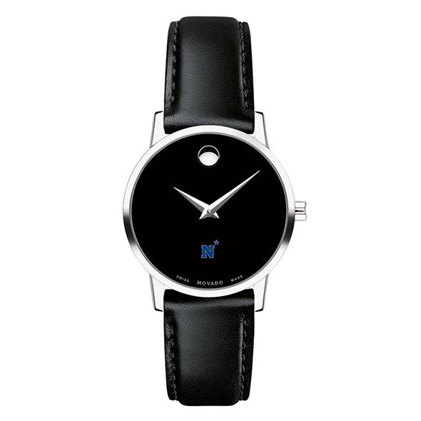 US Naval Academy Women's Movado Museum with Leather Strap - Image 3