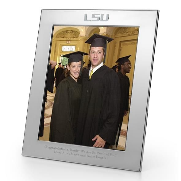 LSU Polished Pewter 8x10 Picture Frame - Image 1