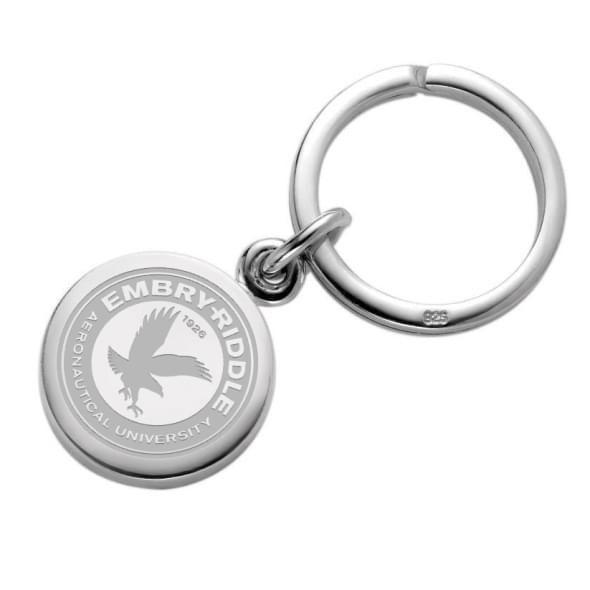 Embry-Riddle Sterling Silver Insignia Key Ring
