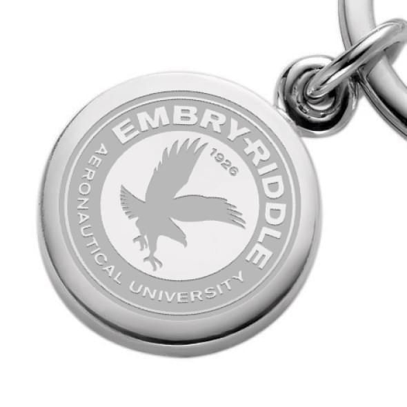 Embry-Riddle Sterling Silver Insignia Key Ring - Image 2
