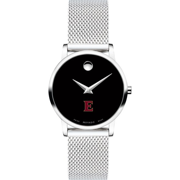 Elon University Women's Movado Museum with Mesh Bracelet - Image 2