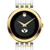 Brigham Young University Women's Movado Esparanza Two-Tone Museum with Bracelet