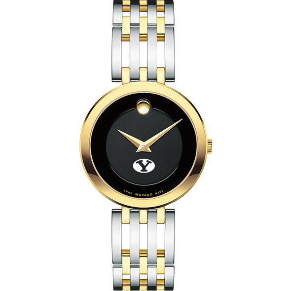 Brigham Young University Women's Movado Esparanza Two-Tone Museum with Bracelet - Image 2
