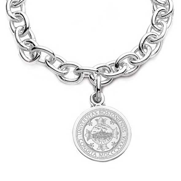 Boston University Sterling Silver Charm Bracelet - Image 2