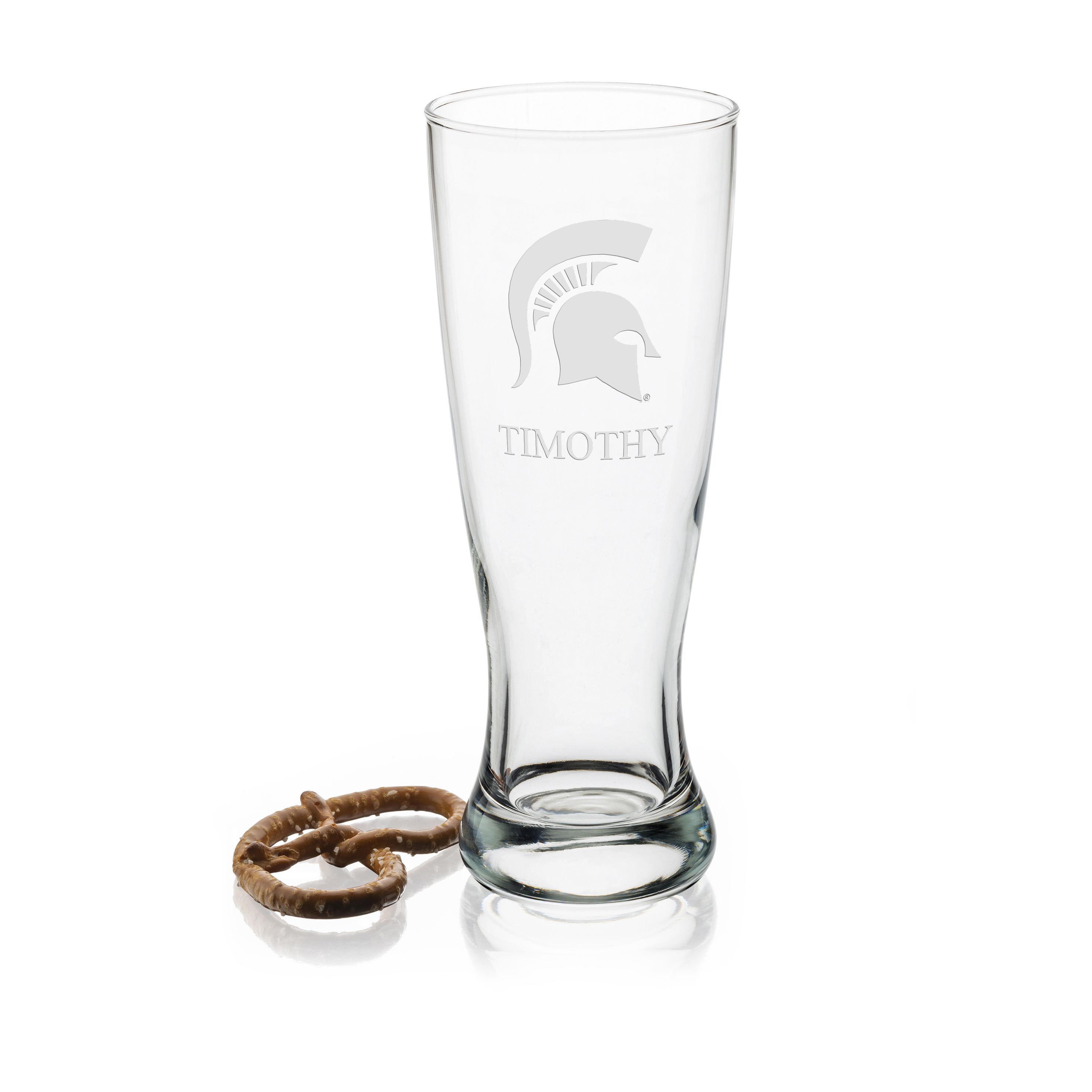 Michigan State 20oz Pilsner Glasses - Set of 2
