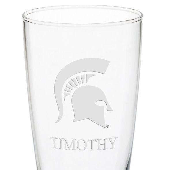 Michigan State 20oz Pilsner Glasses - Set of 2 - Image 3