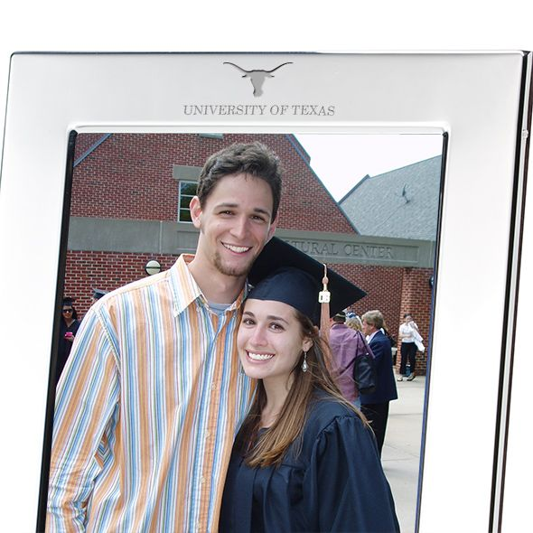 University of Texas Polished Pewter 5x7 Picture Frame - Image 2
