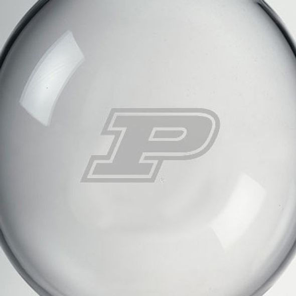 Purdue University Glass Ornament by Simon Pearce - Image 2