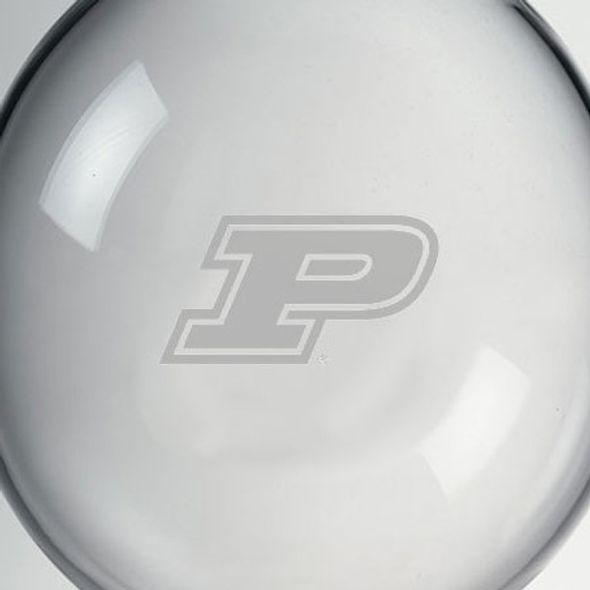 Purdue University Glass Ornament by Simon Pearce - Image 2