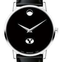 Brigham Young University Men's Movado Museum with Leather Strap