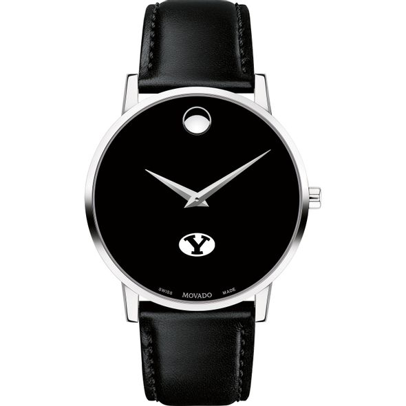 Brigham Young University Men's Movado Museum with Leather Strap - Image 2
