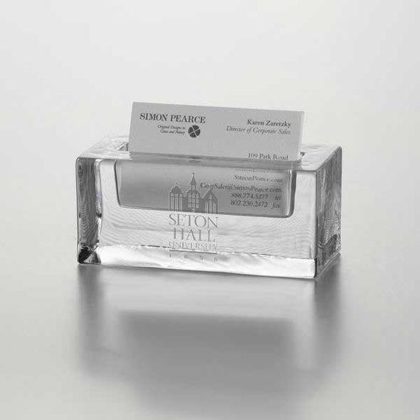 Seton Hall Glass Business Cardholder by Simon Pearce - Image 1